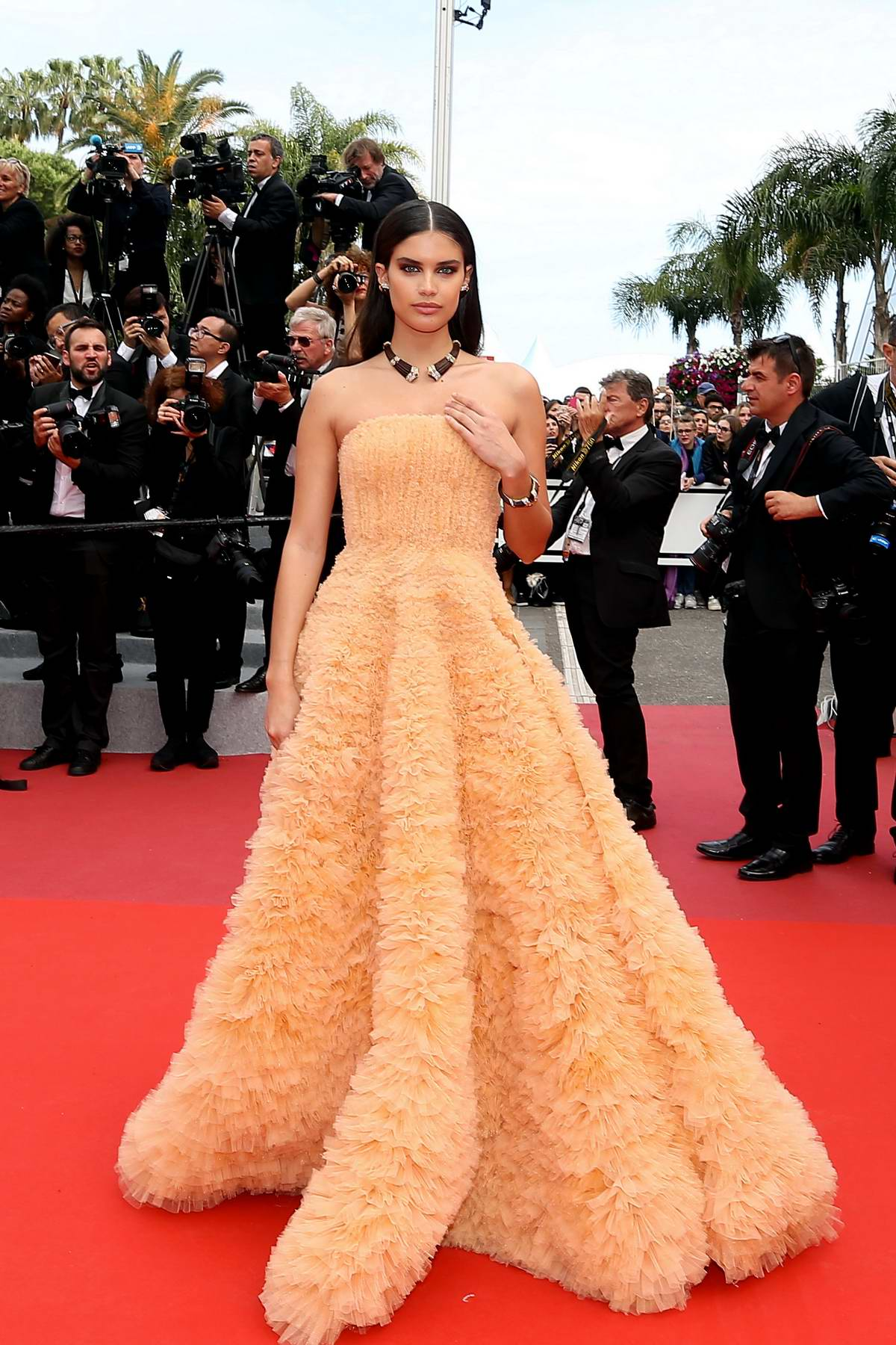 Sara Sampaio attends the screening of 'Once Upon A Time In Hollywood' during the 72nd annual Cannes Film Festival in Cannes, France