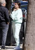 Selena Gomez seen while having a chat with friends after lunch at Joan's On Third in Studio City, Los Angeles