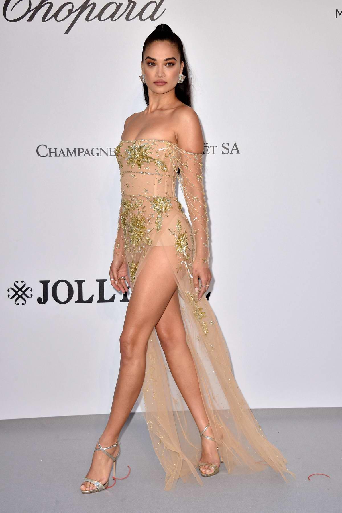 Shanina Shaik attends the 26th amfAR Gala held at Hotel du Cap-Eden-Roc during the