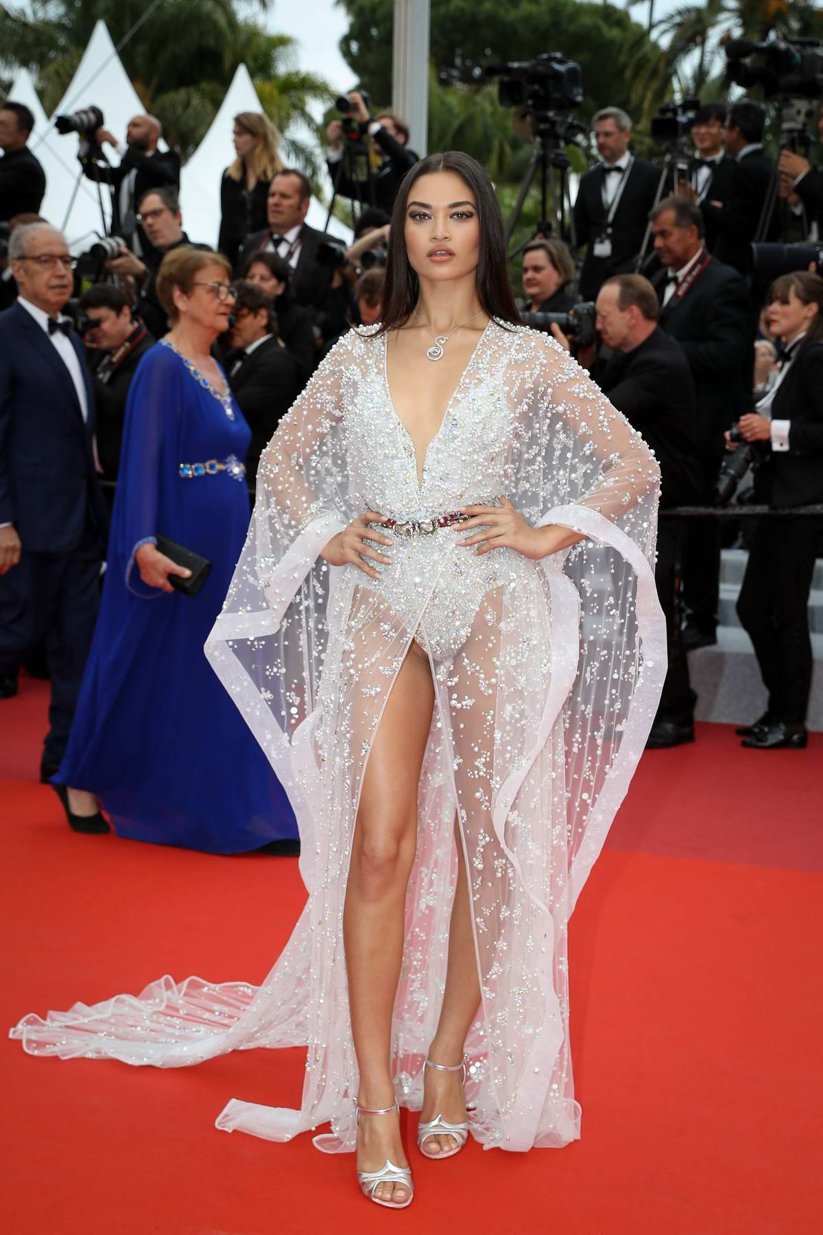 Shanina Shaik attends the screening of 'Sibyl' during the 72nd annual Cannes Film Festival In Cannes, France
