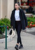 Shanina Shaik sports a makeup free look as she leaves a morning yoga class in Los Angeles