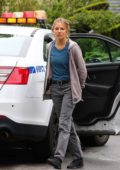 Sienna Miller seen while filming scenes for her upcoming movie '21 Bridges' in Brooklyn, New York