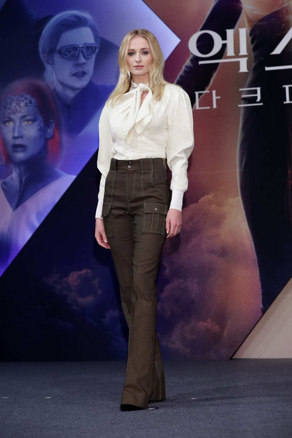 Sophie Turner attends the press conference for South Korean premiere of 'X-Men: Dark Phoenix' in Seoul, South Korea