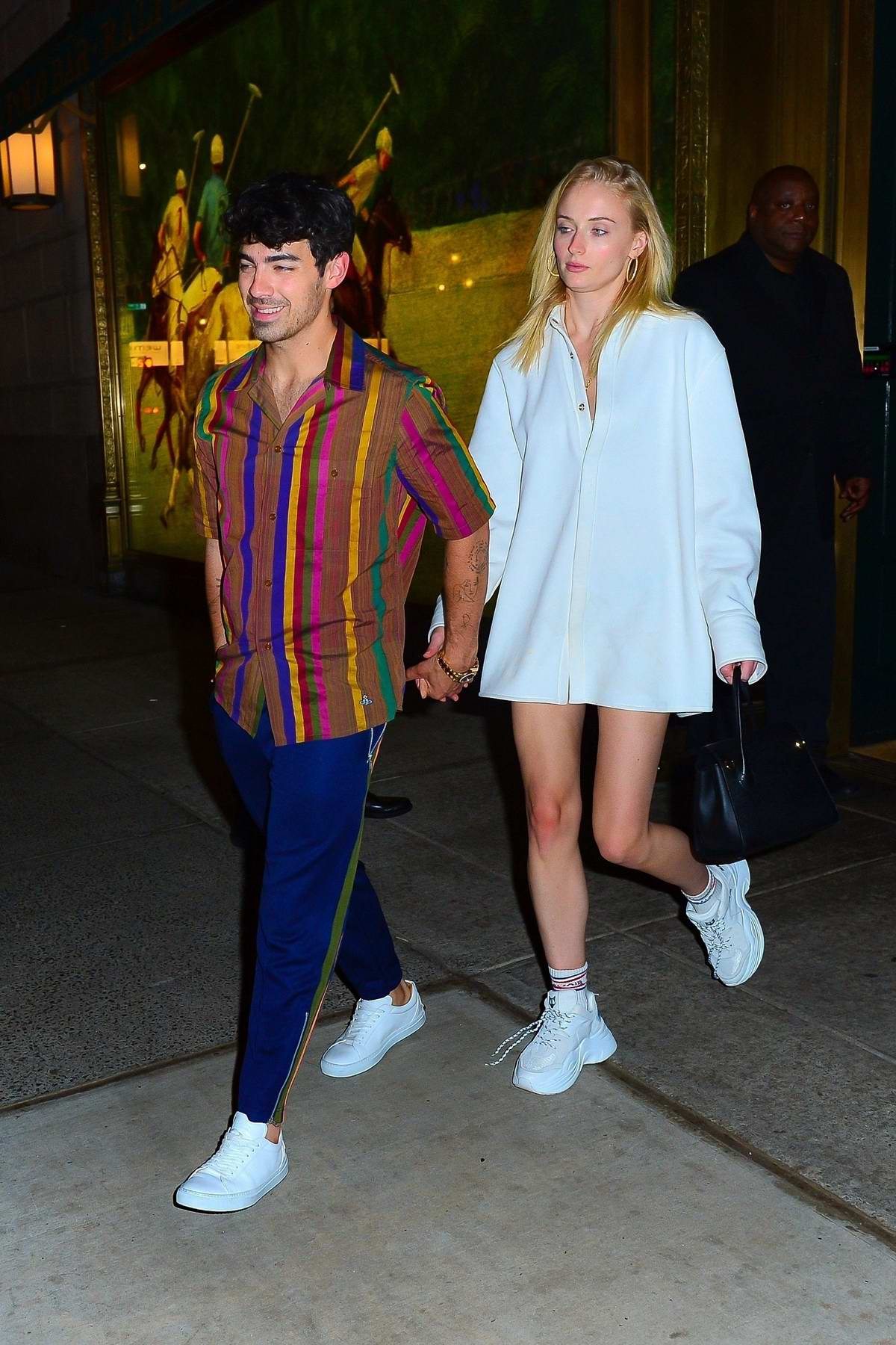Sophie Turner, Joe Jonas, Priyanka Chopra, and Nick Jonas have a double date night in New York City