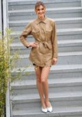 Stefanie Giesinger looks stylish while out on the Croisette during the 72nd Cannes Film Festival in Cannes, France