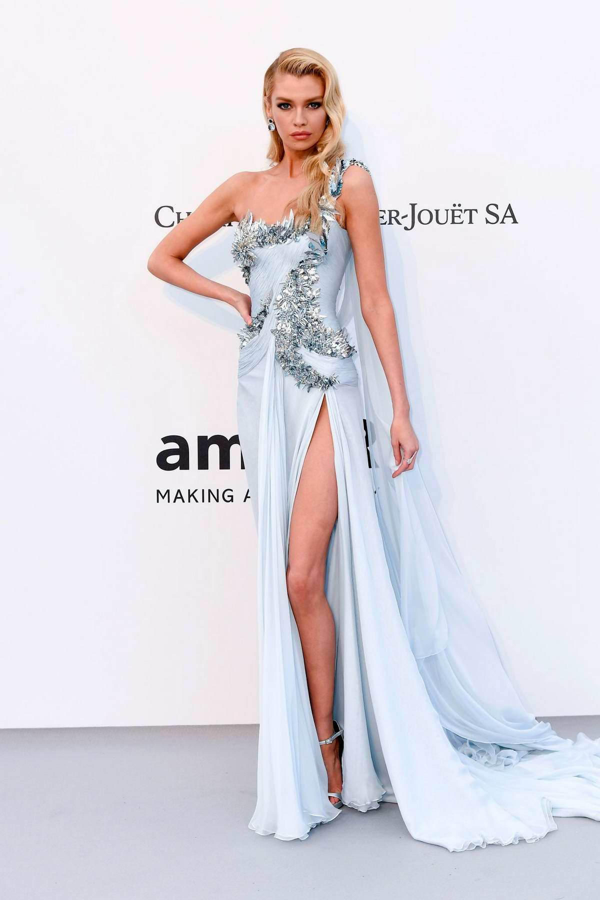 Stella Maxwell attends the 26th amfAR Gala held at Hotel du Cap-Eden-Roc during the 72nd annual Cannes Film Festival in Cannes, France