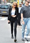 Stella Maxwell rocks a black blazer with matching trousers while out during the 72nd annual Cannes Film Festival in Cannes, France