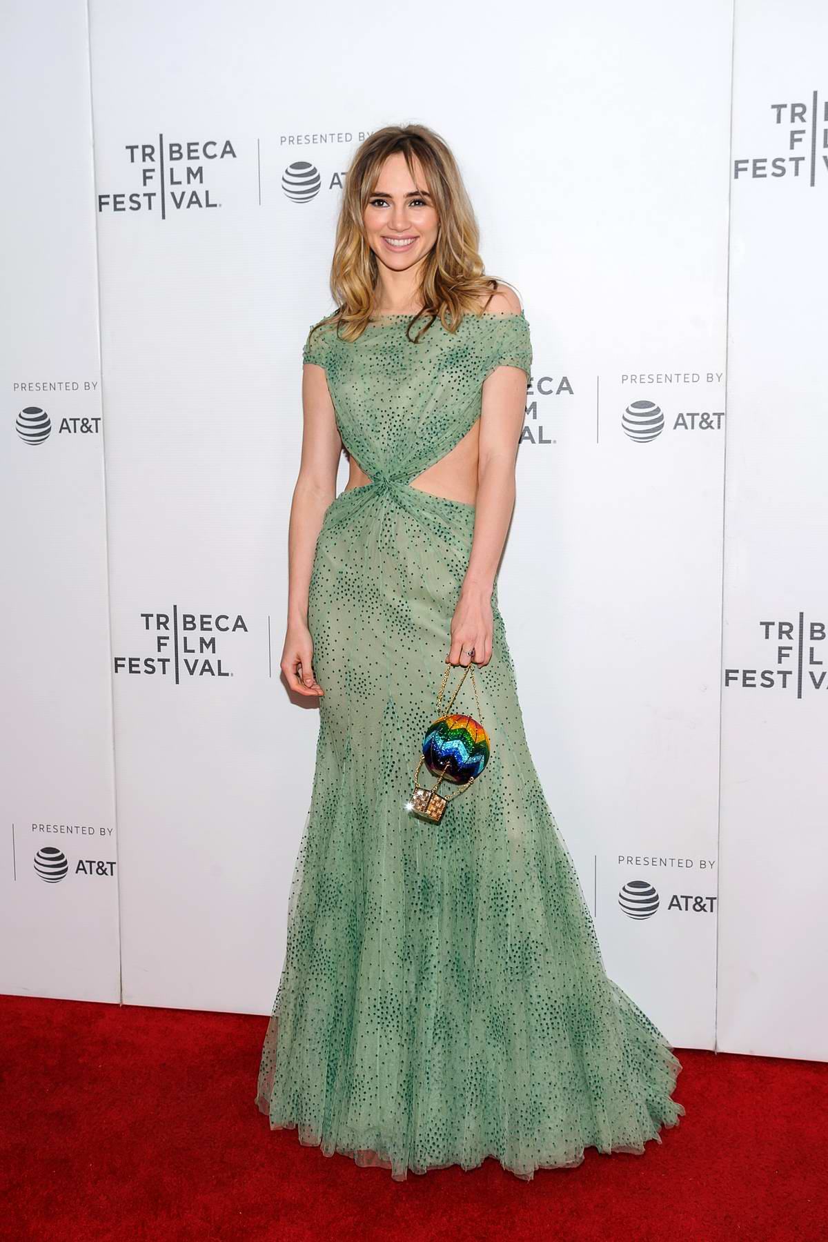 Suki Waterhouse attends 'Charlie Says' film premiere at Tribeca Film Festival in New York City