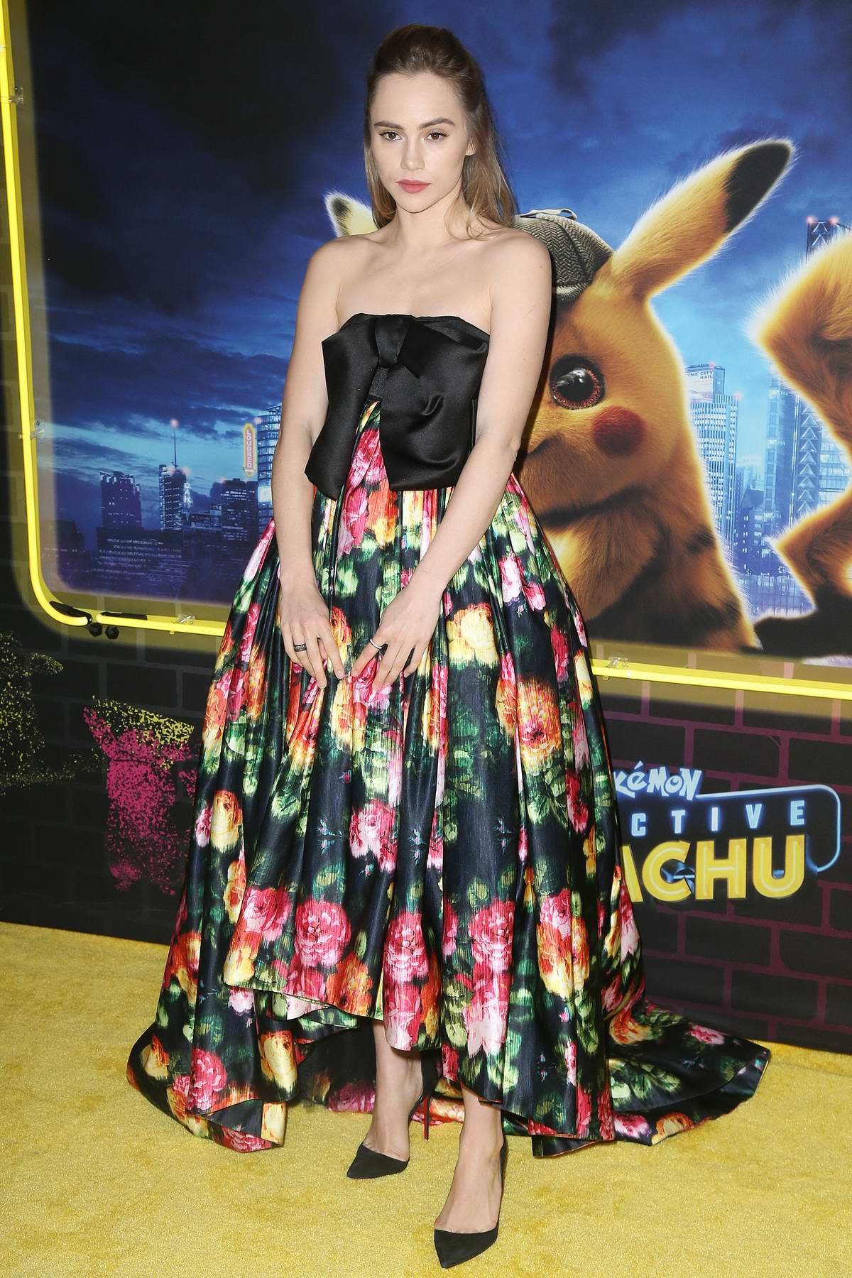 Suki Waterhouse attends 'Pokemon Detective Pikachu' film premiere in New York City