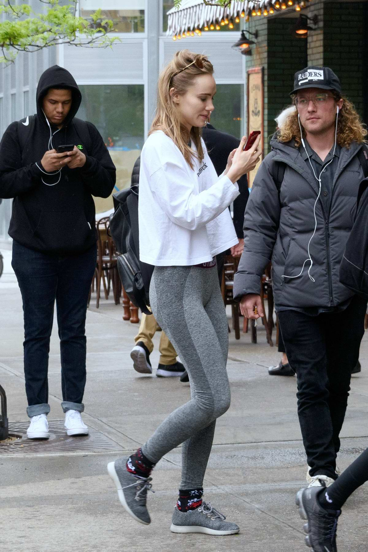 26b82f1b95fb5 suki waterhouse sports white top and grey leggings as she leaves after a workout  session in new york city-030519_7