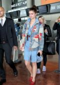 Taylor Hill arrives to catch a flight out of Nice Airport after attending the 72nd annual Cannes Film Festival, France