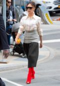 Victoria Beckham puts on a stylish display while out in New York City