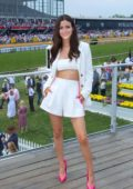 Victoria Justice attends the Preakness Stakes in Baltimore, Maryland