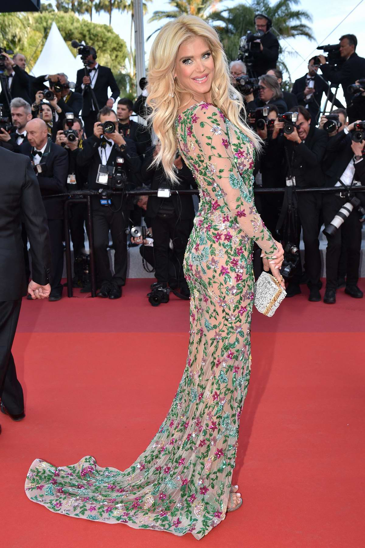 Victoria Silvstedt attends the screening of 'Rocketman' during the 72nd annual Cannes Film Festival in Cannes, France