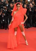Winnie Harlow attends the screening of 'Once Upon A Time In Hollywood' during the 72nd annual Cannes Film Festival in Cannes, France