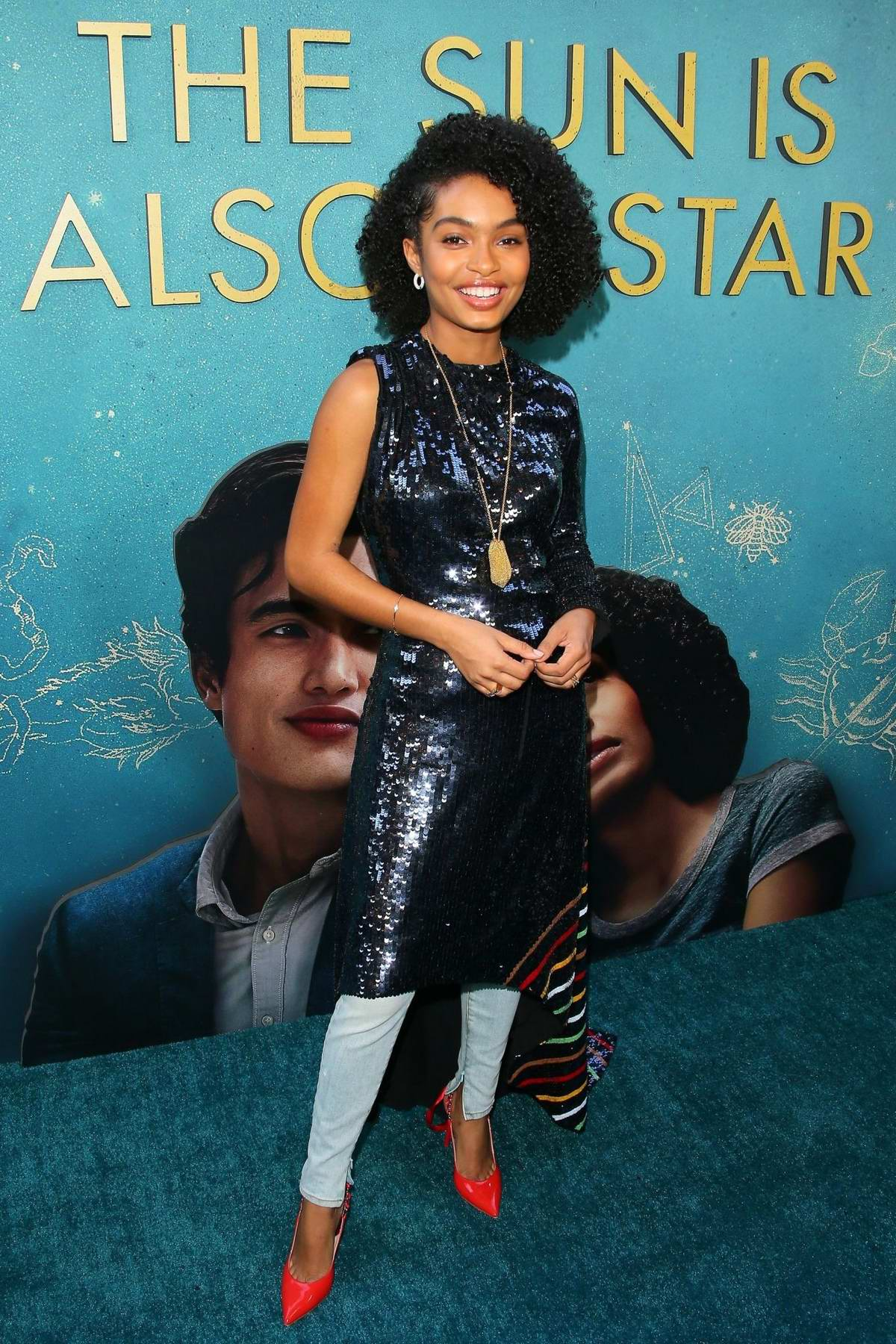 Yara Shahidi attends the world premiere of 'The Sun Is Also A Star' at Pacific Theaters in Los Angeles
