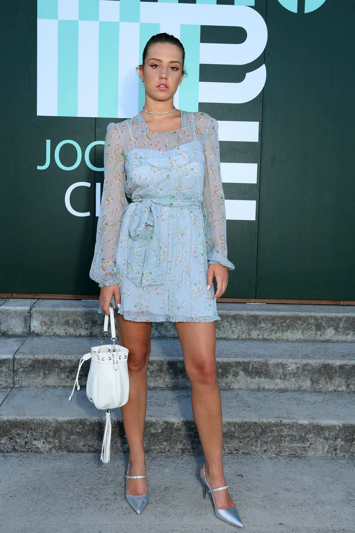 Adele Exarchopoulos attends Miu Miu Club event at Hippodrome d'Auteuil in Paris, France