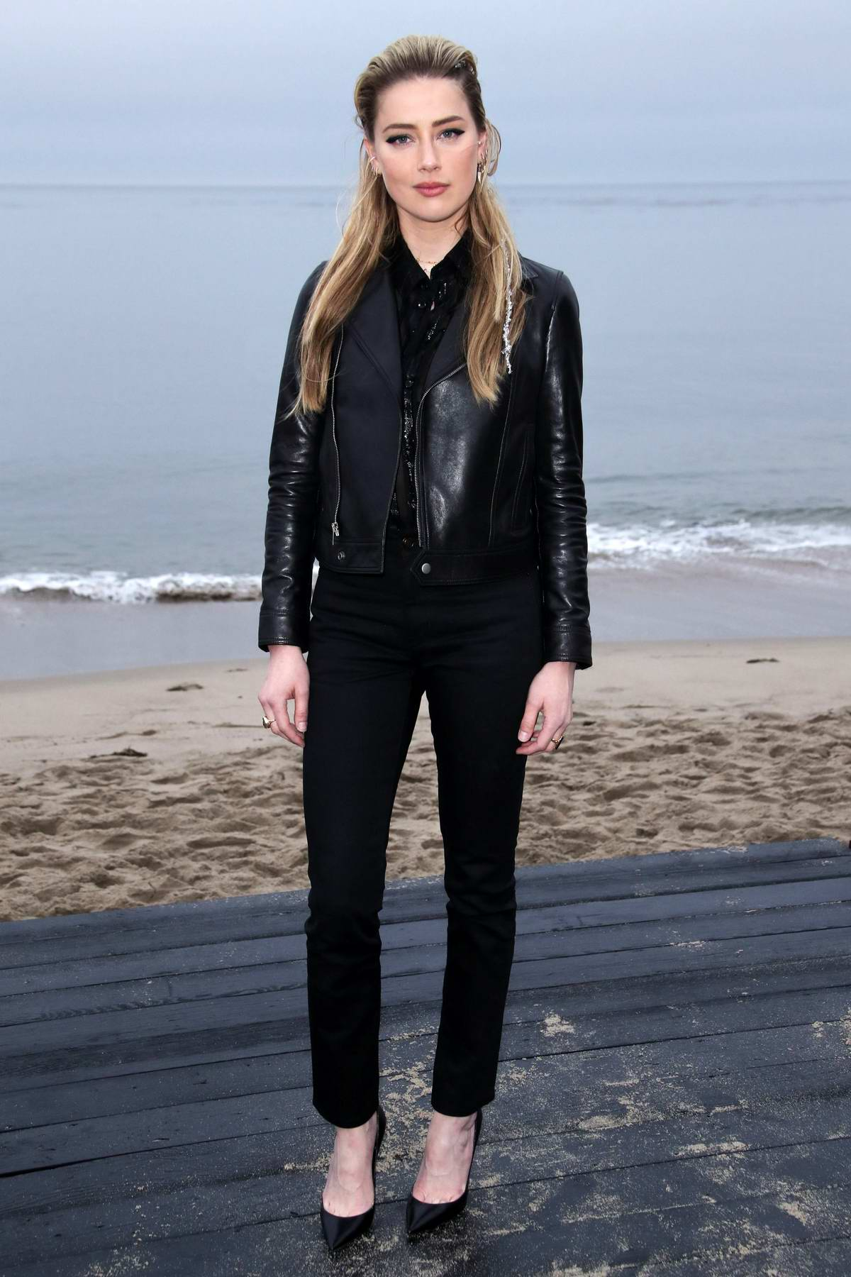 Amber Heard attends the Saint Laurent Men's Spring-Summer 2020 Fashion Show in Malibu, California