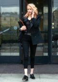Amber Heard dressed in all-black as she steps out for a business meeting in Los Angeles