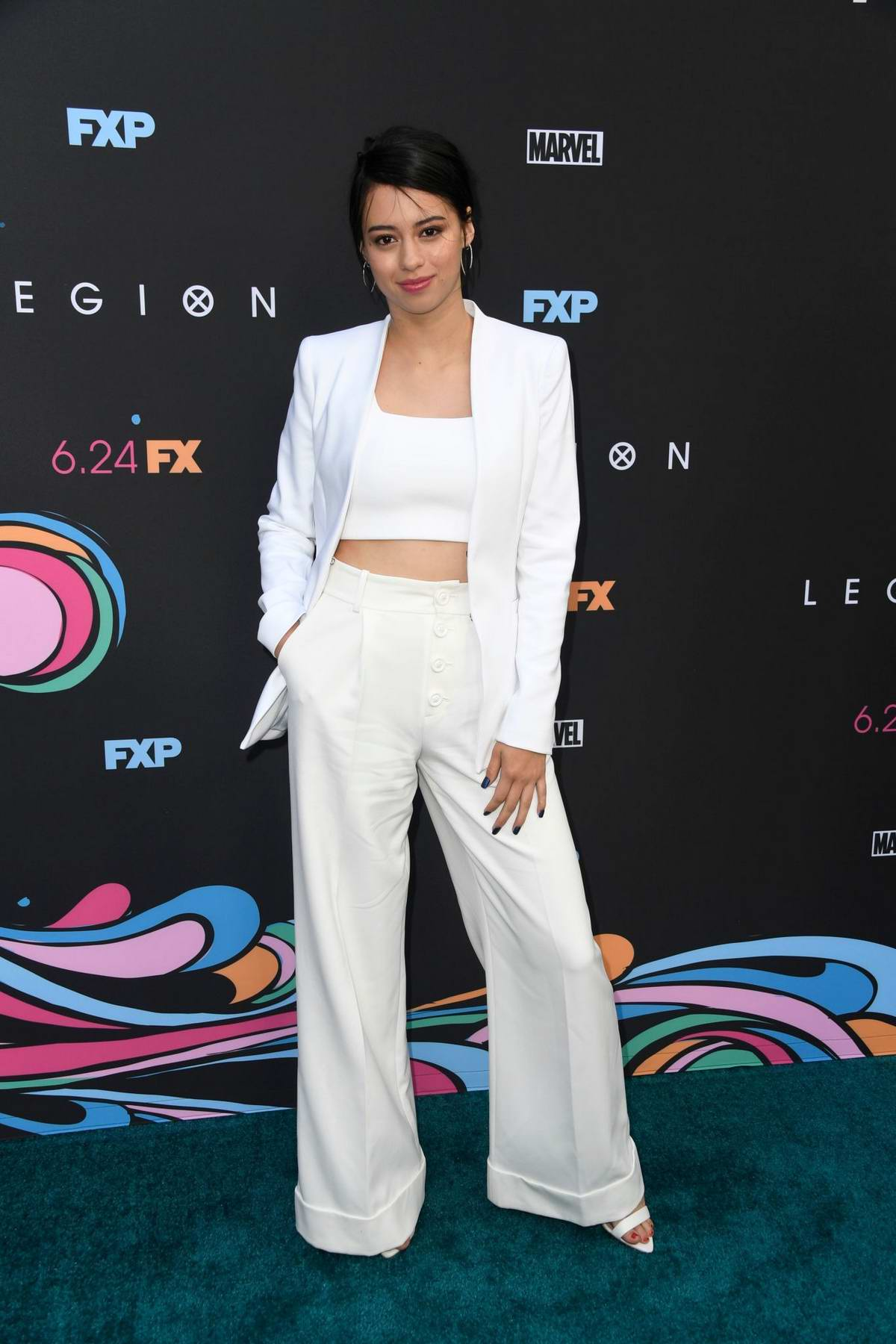 Amber Midthunder attends the Premiere of FX's 'Legion' Season 3 in Hollywood, California