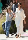 Angelina Jolie steps out for some shopping with daughter Vivienne in Los Feliz, California