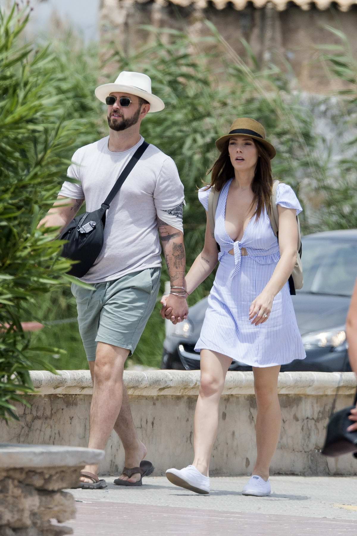 Ashley Greene and Paul Khoury stepped out for some sightseeing in Ibiza, Spain