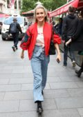 Ashley Roberts is all smiles as she leaves Global Radio Studios in London, UK