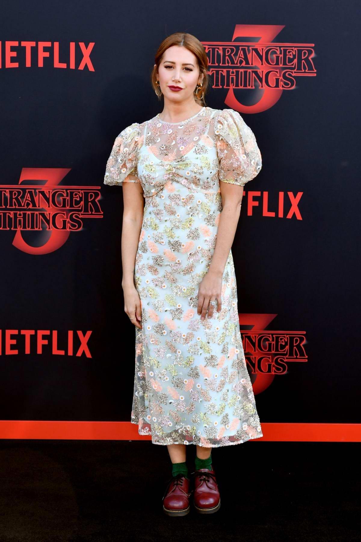 Ashley Tisdale attends the premiere of Netflix's 'Stranger Things' Season 3 in Santa Monica, California