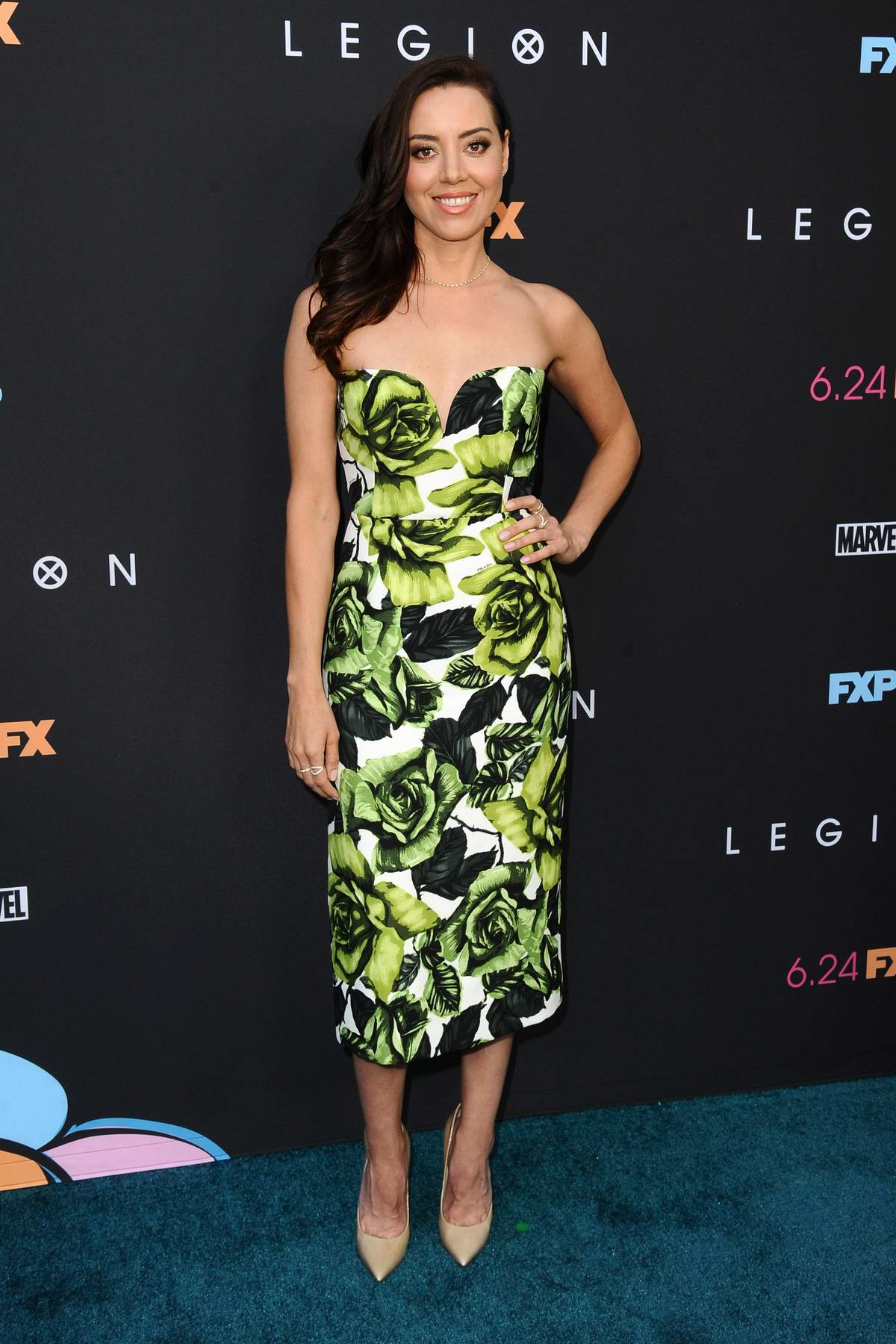 Aubrey Plaza attends the Premiere of FX's 'Legion' Season 3 in Hollywood, California
