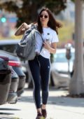 Aubrey Plaza seen arriving to the gym in Los Angeles