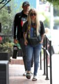 Avril Lavigne and Phillip Sarofim go shopping at Couture Kids in West Hollywood, Los Angeles