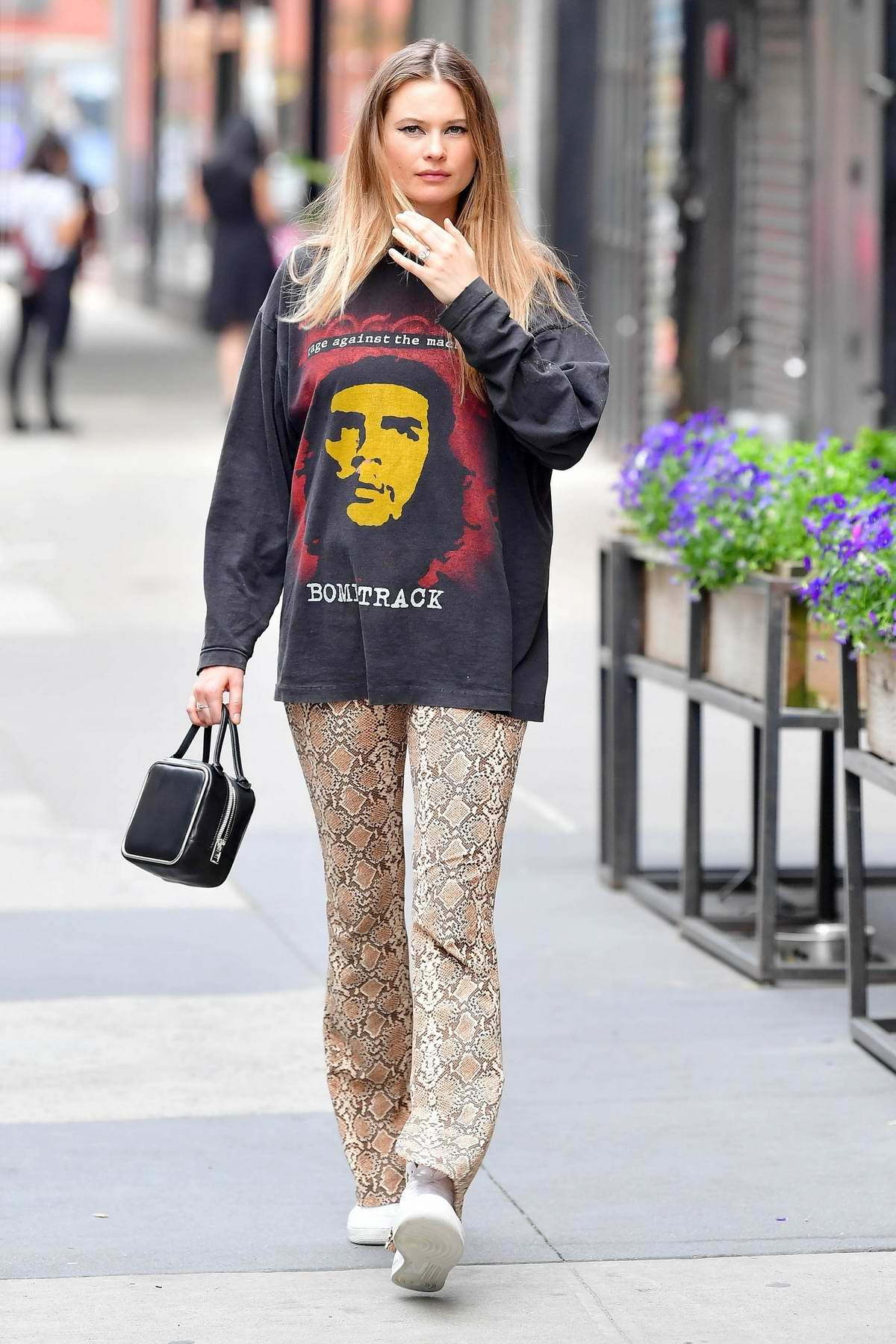 Behati Prinsloo seen leaving after lunch at Le Barricou restaurant in New York City