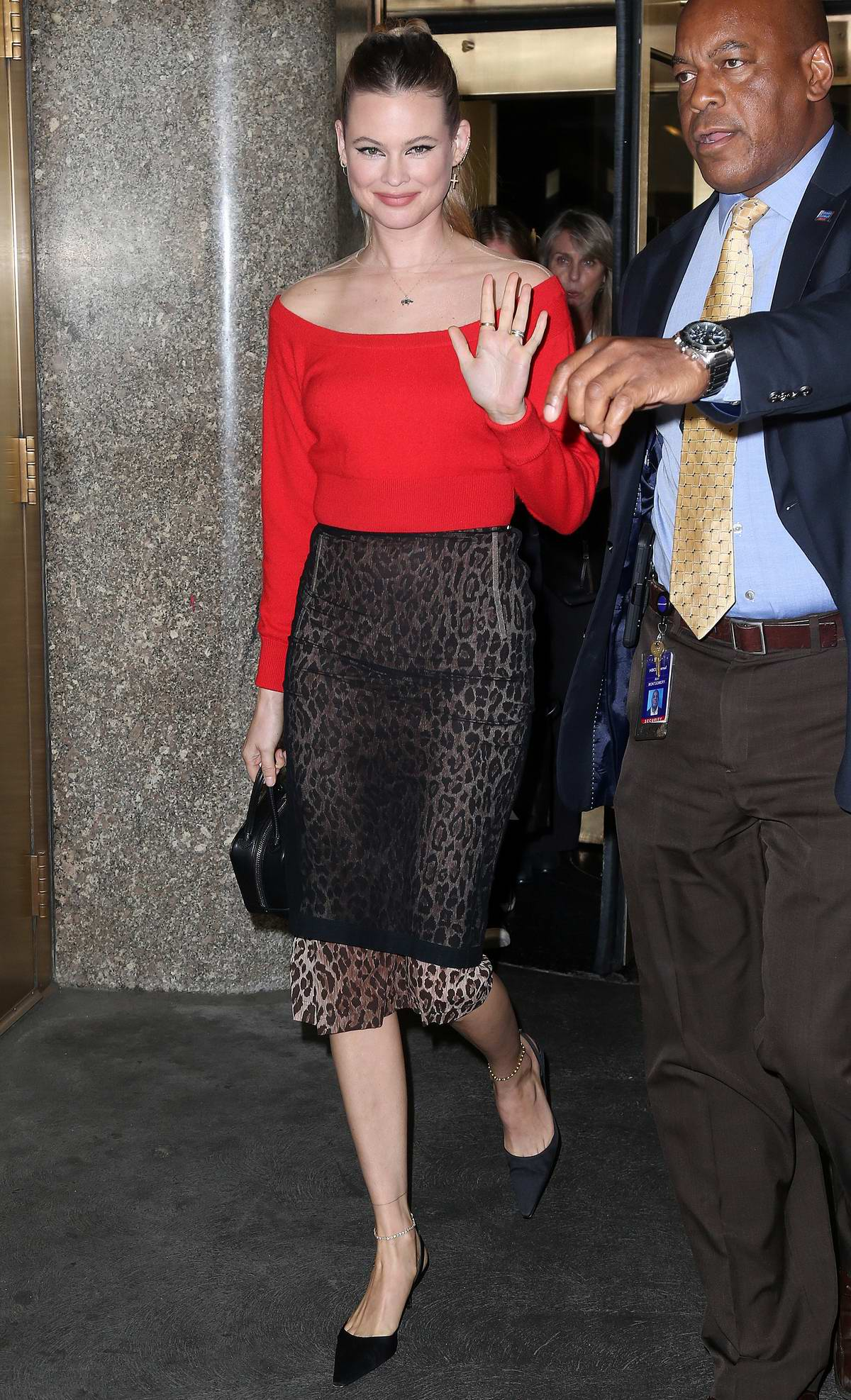Behati Prinsloo visits 'Access Hollywood Live' TV show in New York City