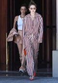 Bella Hadid and Gigi Hadid put on a stylish display as they stepped out in Florence, Italy