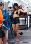 Bella Thorne and Dani Thorne enjoy a ride on a jet ski in Miami, Florida