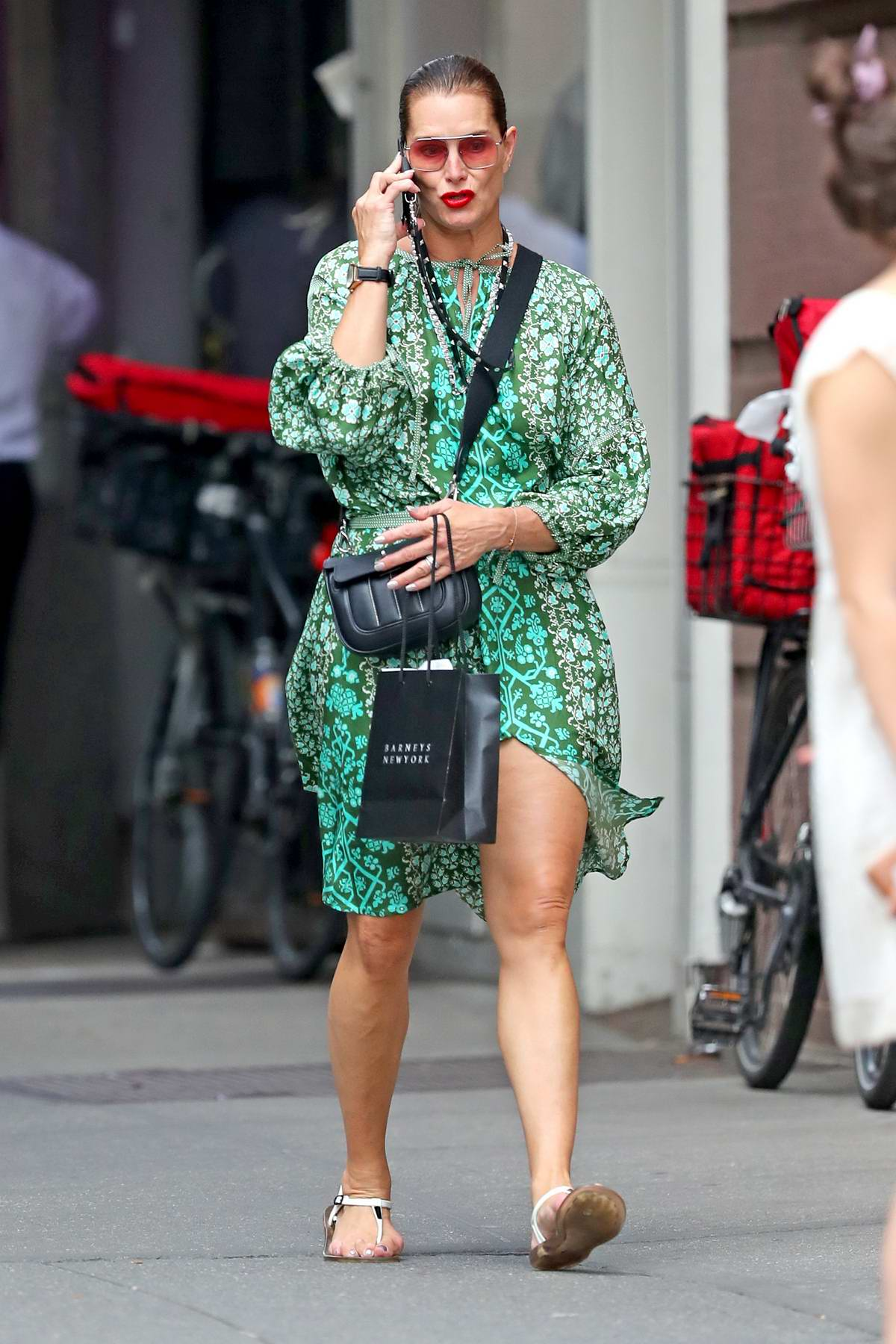 Brooke Shields steps out for some retail therapy in New York City