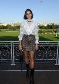 Bruna Marquezine attends Miu Miu Club event at Hippodrome d'Auteuil in Paris, France