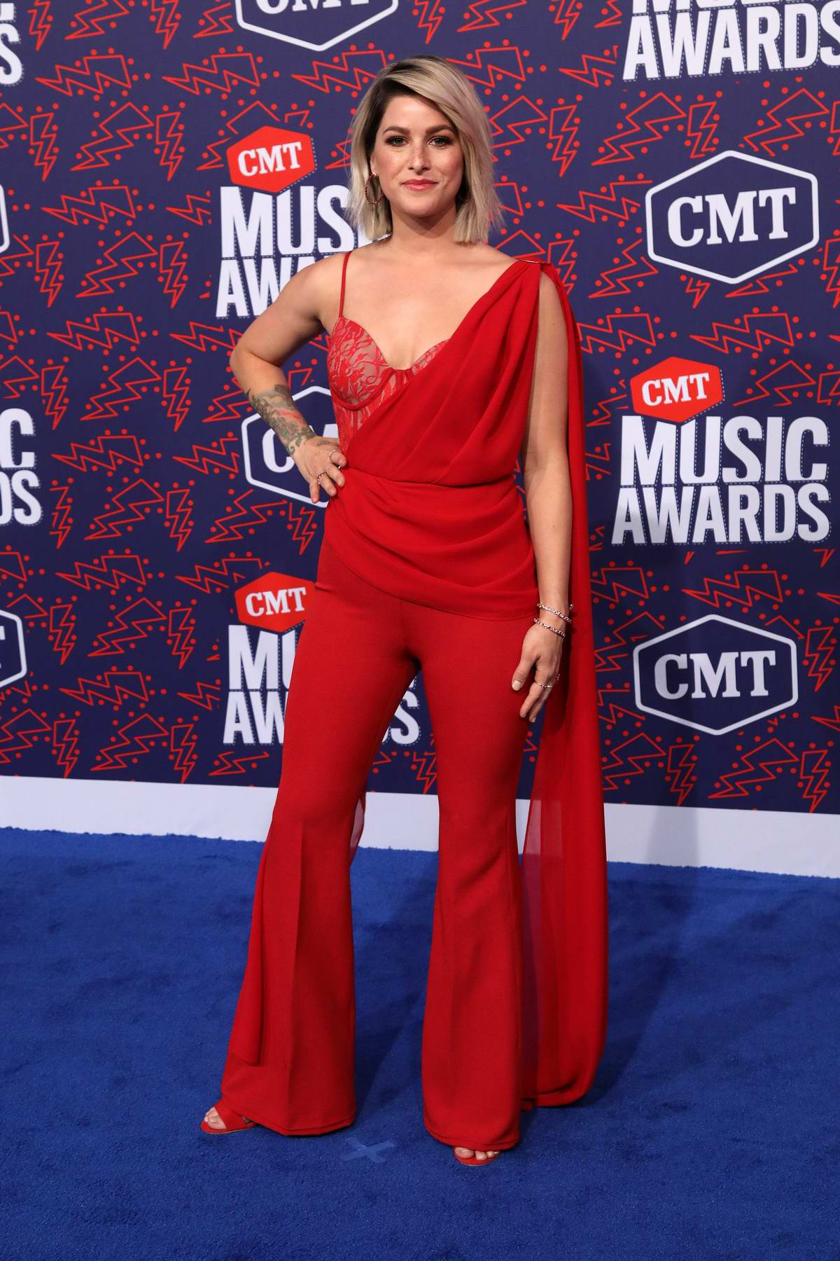 Cassadee Pope attends the 2019 CMT Music Awards at Bridgestone Arena in Nashville, TN