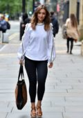 Catherine Tyldesley out for lunch at Peter Street Kitchen Restaurant in Manchester, UK