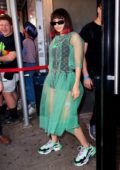 Charli XCX spotted in a sheer outfit while out in New York City