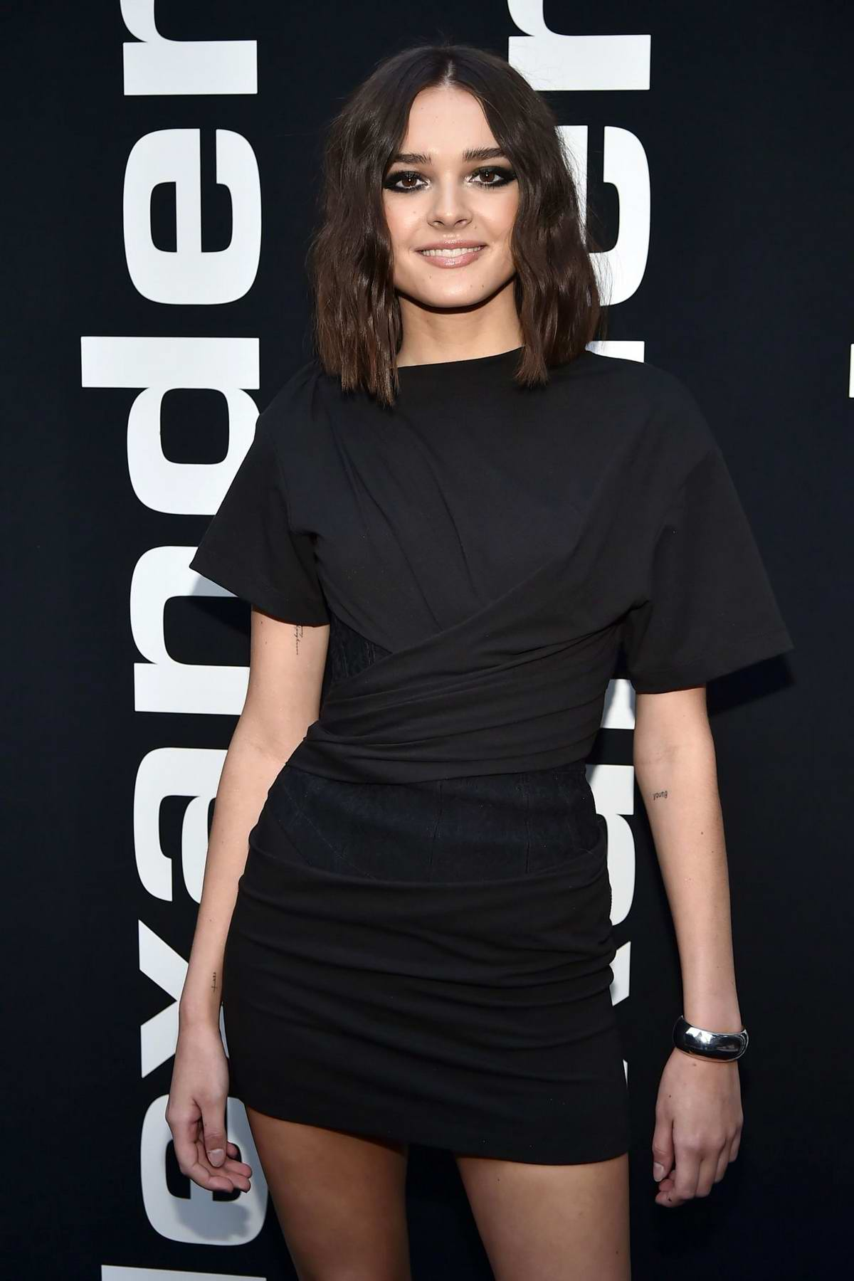 Charlotte Lawrence attends the Alexander Wang Collection 1 Fashion Show at Rockefeller Center in New York City