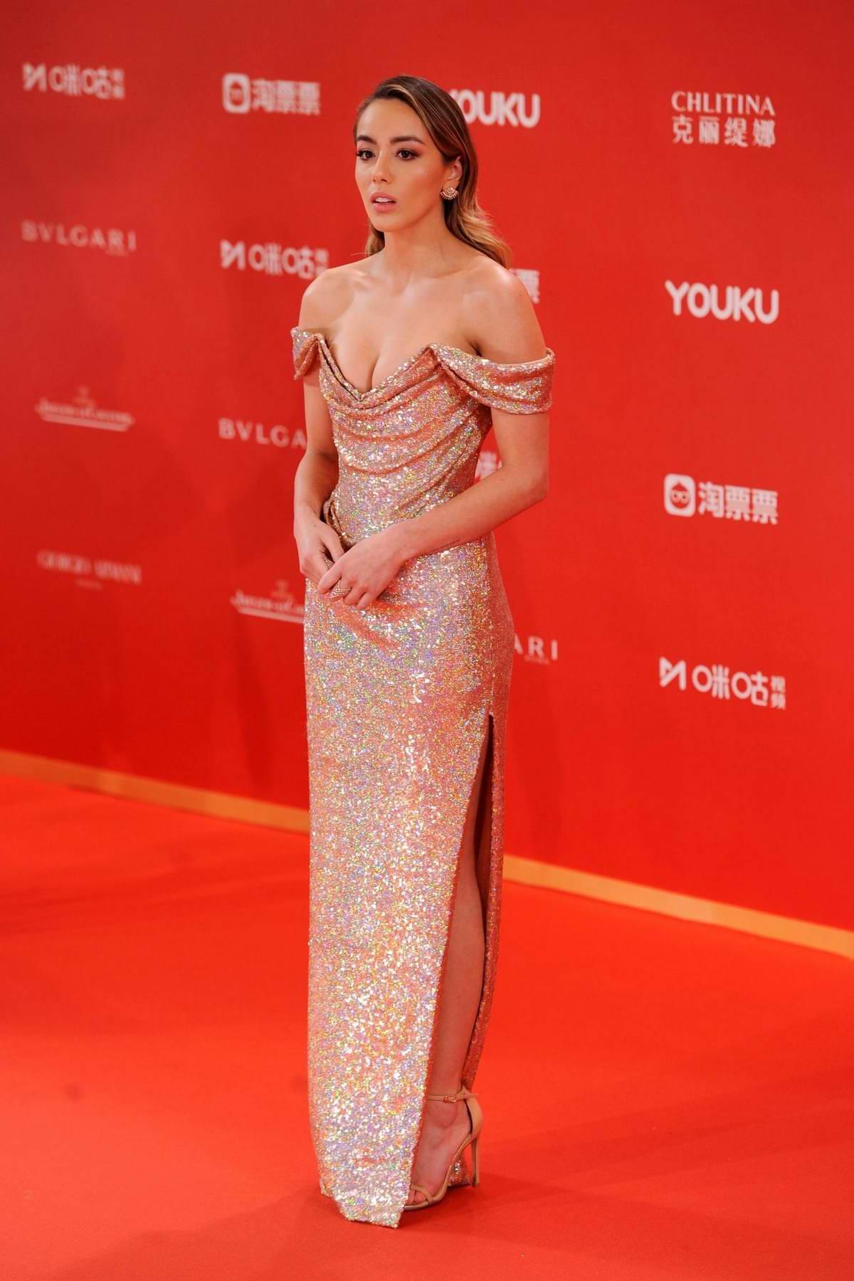 Chloe Bennet attends the Golden Goblet Awards Ceremony of the Shanghai International Film Festival in Shanghai, China