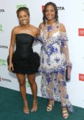 Christina Milian and Karrueche Tran at the 29th Annual Environmental Media Awards at The Montage Hotel in Beverly Hills, Los Angeles