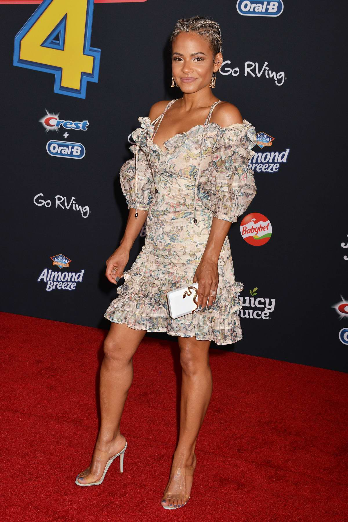 Christina Milian attends the World Premiere of 'Toy Story 4' at the El Capitan Theater in Hollywood, California