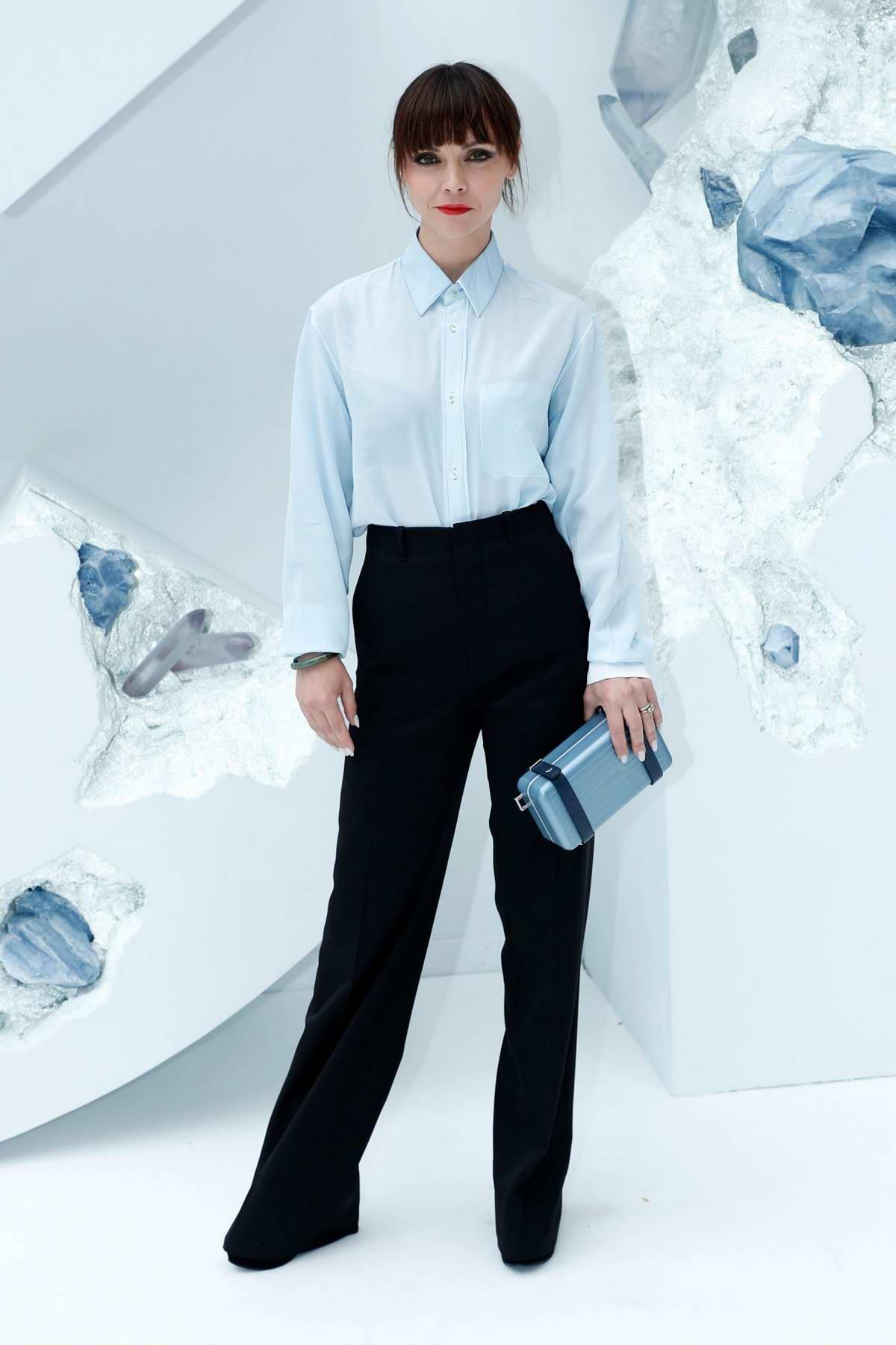 Christina Ricci attends the Dior Homme Menswear Spring/Summer 2020 show during Paris Fashion Week in Paris, France