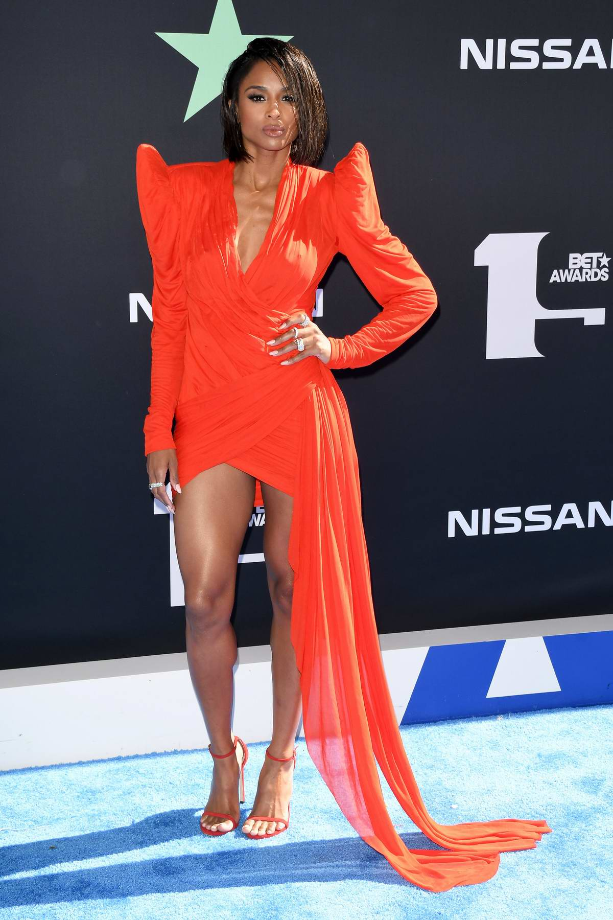 Ciara attends the 2019 BET Awards held at Microsoft Theater in Los Angeles