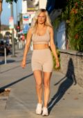 CJ 'Lana' Perry wears matching crop top and biker shorts while out in Los Angeles