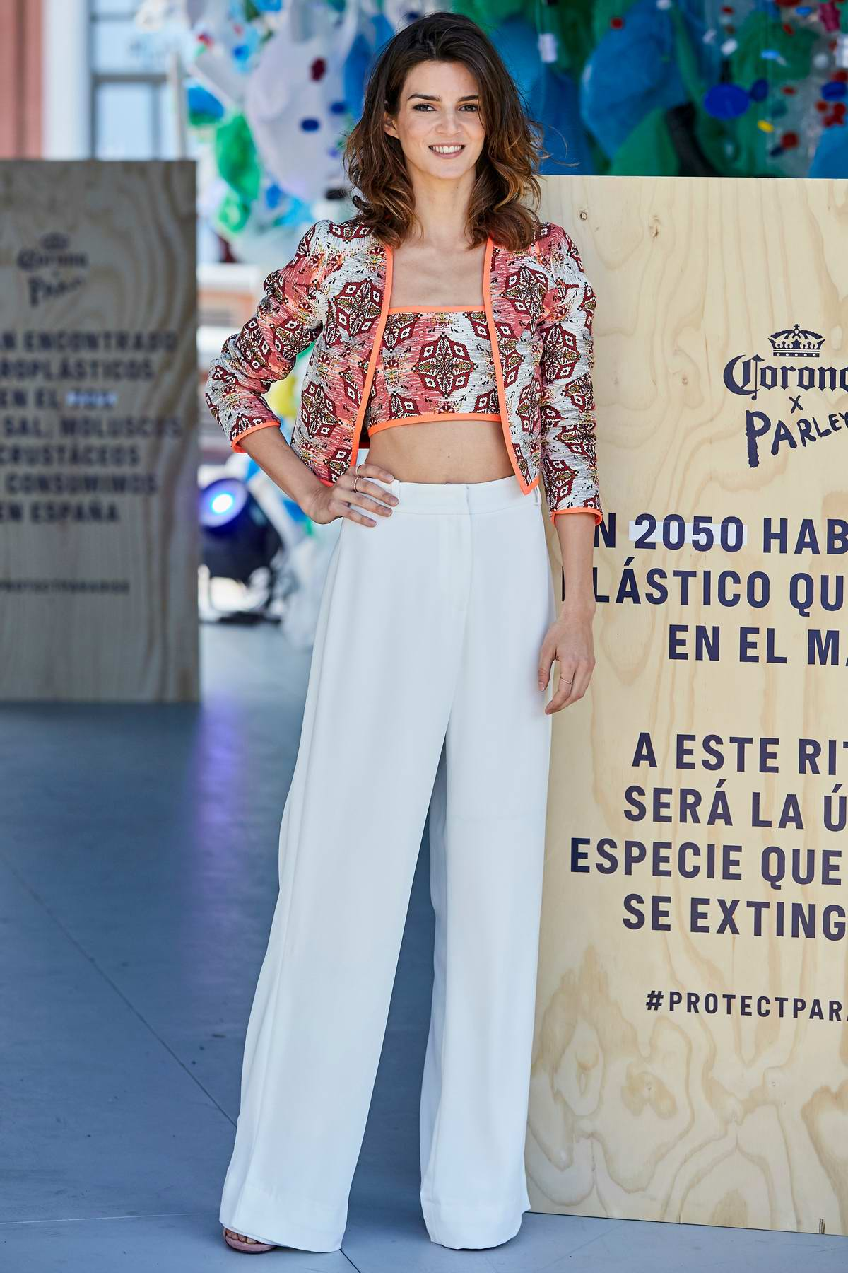 Clara Lago attends the World Environment Day Photocall in Madrid, Spain