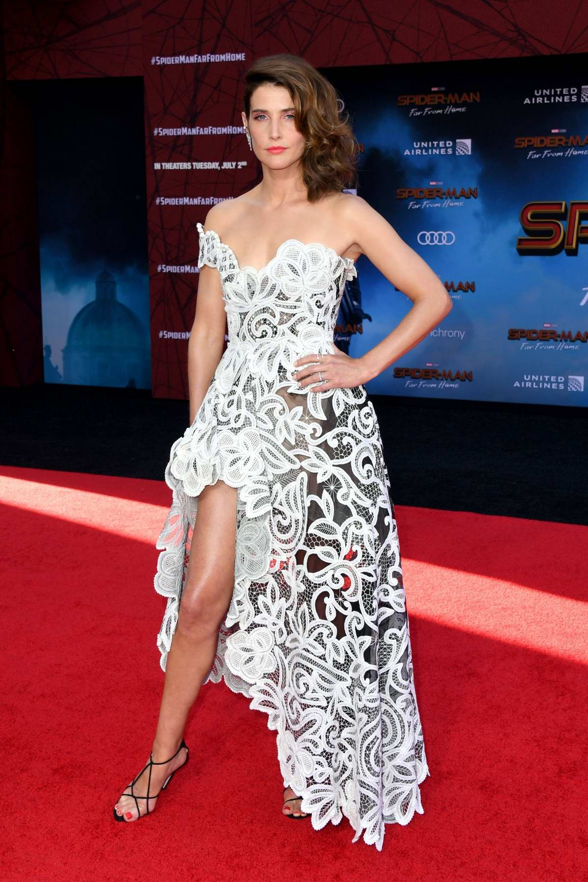 Cobie Smulders attends the premiere of 'Spider-Man: Far From Home' at TCL Chinese Theatre in Hollywood, California
