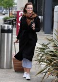 Dakota Blue Richards is all smiles as she leaves the Costa Coffee at Media City in Manchester, UK